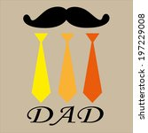 raster of happy father's day ... | Shutterstock . vector #197229008