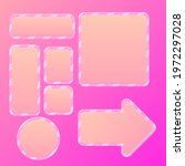 game ui pink cute buttons arrow ...