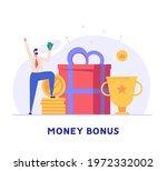 man getting an award and bonus...   Shutterstock .eps vector #1972332002