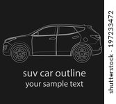 suv car vector illustration.... | Shutterstock .eps vector #197233472