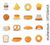 bakery and bread icon | Shutterstock .eps vector #197236415