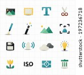 photography and camera icons | Shutterstock .eps vector #197236718
