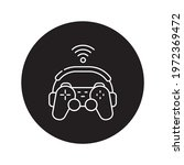 game streaming black glyph icon....