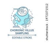 chorionic villus sampling blue...   Shutterstock .eps vector #1972371512