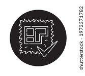 land plot black glyph icon....