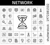 network icon set. line icon...