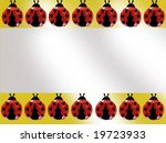 a banner with ladybugs | Shutterstock . vector #19723933