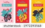 breakfast poster with bunch of... | Shutterstock .eps vector #1972393568