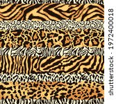 striped wild animal skins...   Shutterstock .eps vector #1972400018