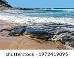 Waves Crashing On Volcanic Rock ...