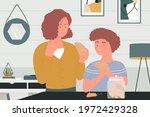 happy family people eat... | Shutterstock .eps vector #1972429328