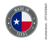 made in texas icon. gray stamp... | Shutterstock .eps vector #1972435865