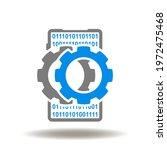 smartphone with gears mechanism ...   Shutterstock .eps vector #1972475468