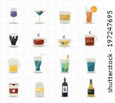 drinking icons   Shutterstock .eps vector #197247695
