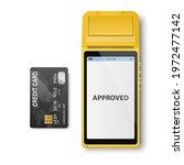 vector realistic yellow 3d... | Shutterstock .eps vector #1972477142