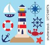 vector yacht illustration   Shutterstock .eps vector #197248976