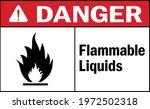 flammable liquids danger sign.... | Shutterstock .eps vector #1972502318