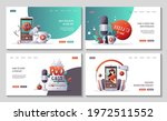 set of web pages with... | Shutterstock .eps vector #1972511552