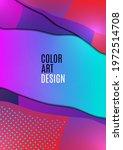 bright wavy triangles. gradient ... | Shutterstock .eps vector #1972514708