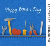 happy father's day card with...   Shutterstock .eps vector #1972517795