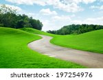 panoramic view of nice green... | Shutterstock . vector #197254976