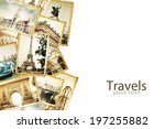 old photos on the white.... | Shutterstock . vector #197255882