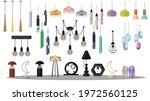 set modern loft lamps floor...   Shutterstock .eps vector #1972560125