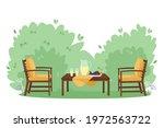 patio area flat vector...   Shutterstock .eps vector #1972563722