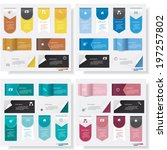 collection of design clean... | Shutterstock .eps vector #197257802