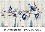 boho watercolor wall art print. ... | Shutterstock . vector #1972607282