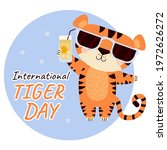 International Tiger Day. Cute...