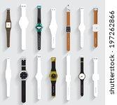 watch vector set   Shutterstock .eps vector #197262866