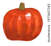 Watercolor Orange Halloween...