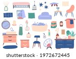 bathroom interior furniture.... | Shutterstock .eps vector #1972672445