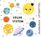 cute planets of the solar...   Shutterstock .eps vector #1972697732