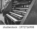 Black And White Photo Of Piano