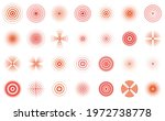 red pain circles. pain... | Shutterstock .eps vector #1972738778