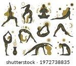 magical yoga women. mystical...   Shutterstock .eps vector #1972738835