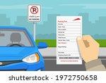 hand holding violation ticket....   Shutterstock .eps vector #1972750658