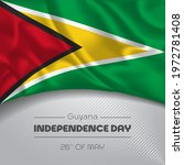 guyana happy independence day... | Shutterstock .eps vector #1972781408