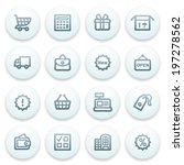 shopping contour icons on blue... | Shutterstock .eps vector #197278562