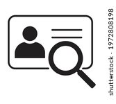 identification card scan icon...
