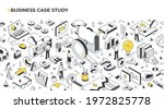 case study marketing and... | Shutterstock .eps vector #1972825778