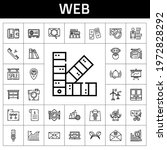 web icon set. line icon style....