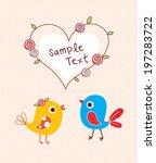 bird wedding couple | Shutterstock .eps vector #197283722
