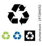 vector international recycling...   Shutterstock .eps vector #197284052