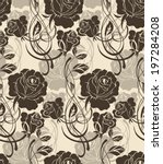seamless pattern with beautiful ... | Shutterstock .eps vector #197284208