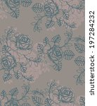 seamless pattern with beautiful ... | Shutterstock .eps vector #197284232