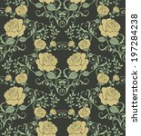 seamless pattern with beautiful ... | Shutterstock .eps vector #197284238