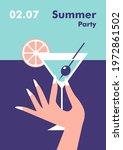 summer party poster design...   Shutterstock .eps vector #1972861502